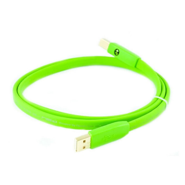 Neo Oyaide d+ USB Class B 2M Cable Green