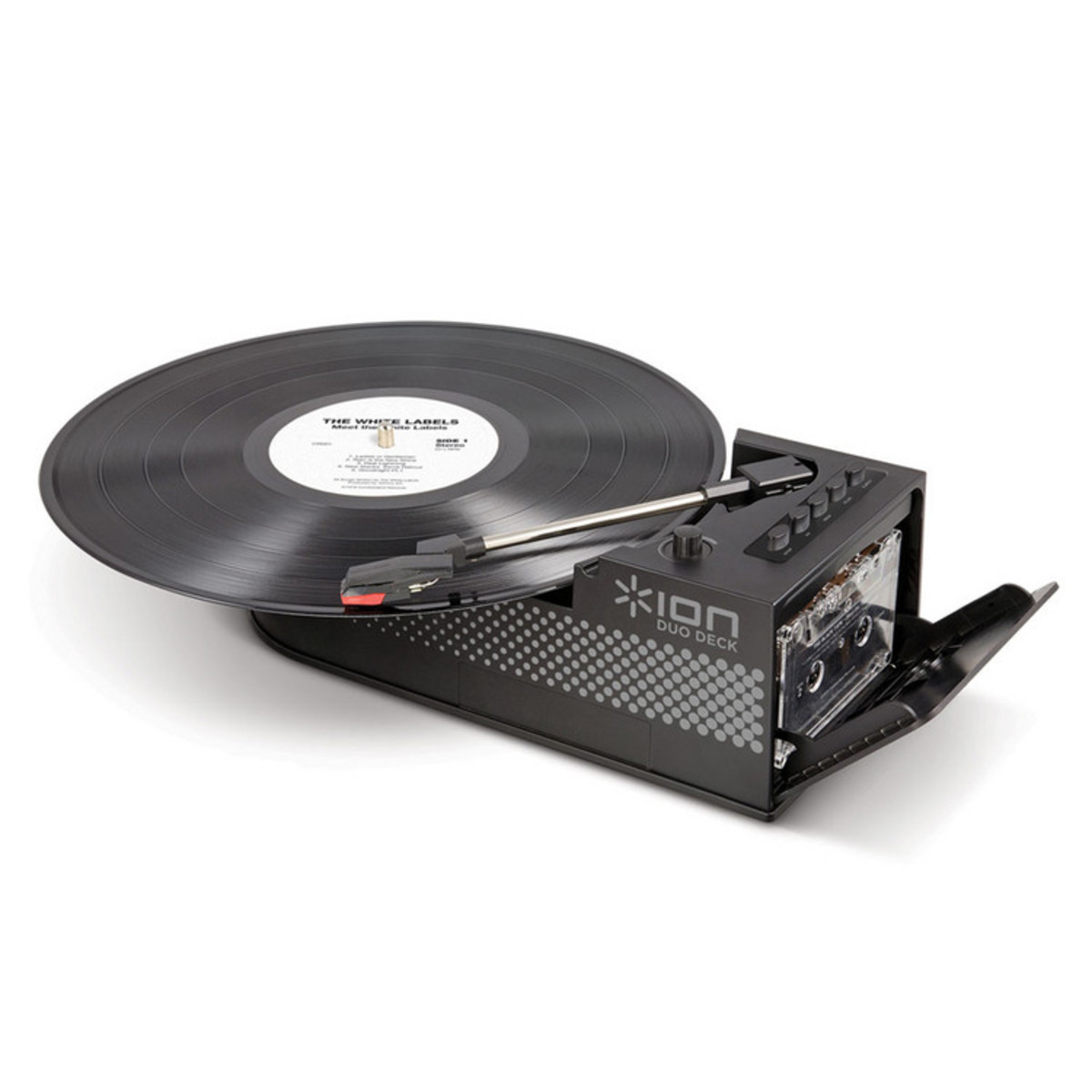 Ion duo deck platine ultra portable avec lecteur de - Tourne disque avec haut parleur integre ...