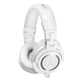 Audio Technica ATH-M50xWH Professional Monitor Headphones, White