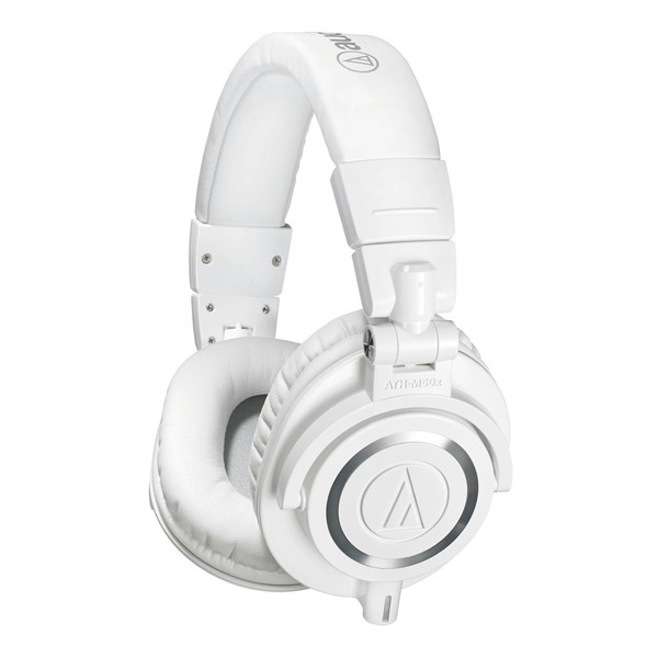 Audio Technica ATH-M50xWH Professional Monitor Headphones, White