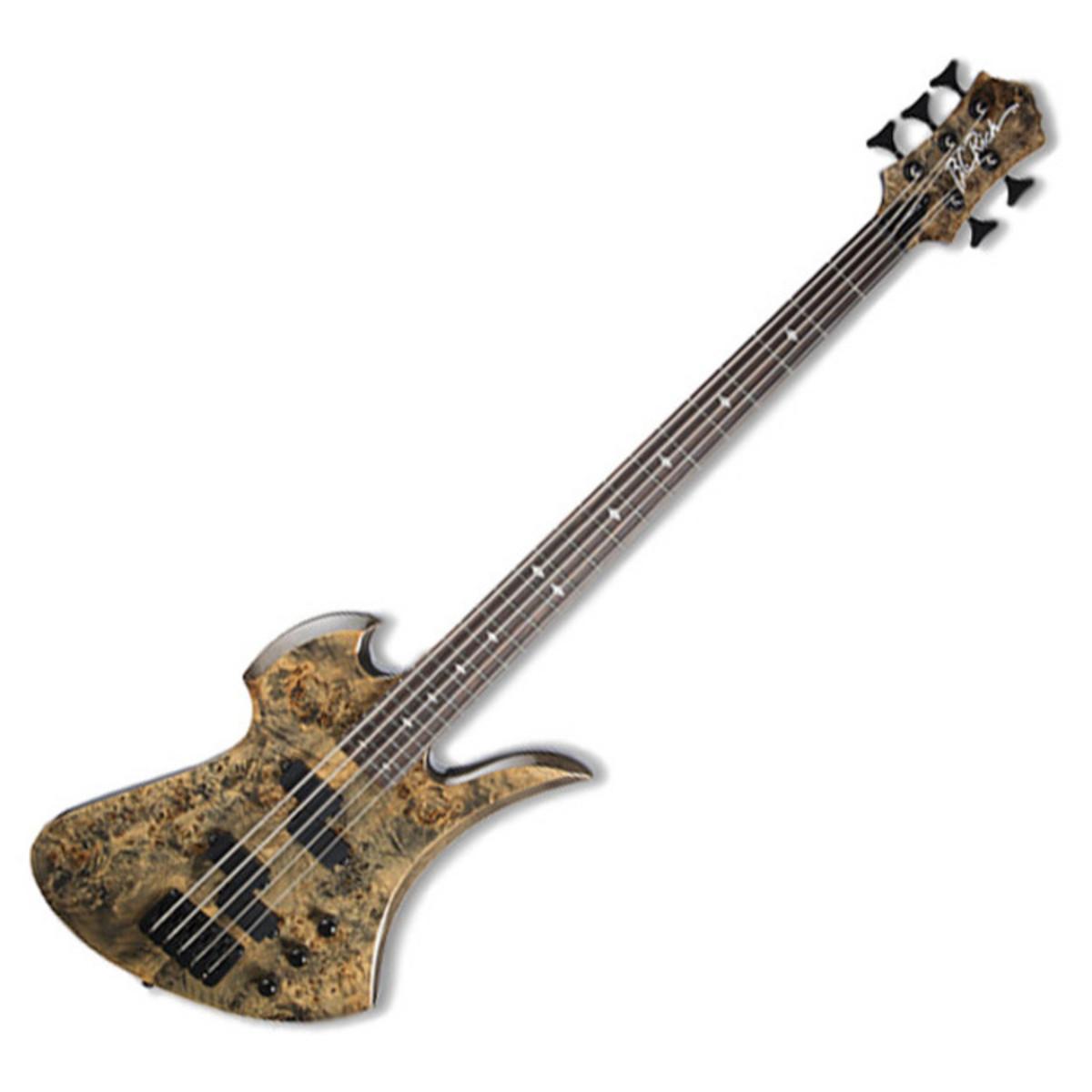 DISC BC Rich Mockingbird Plus 5-String Bass Guitar, Ghost