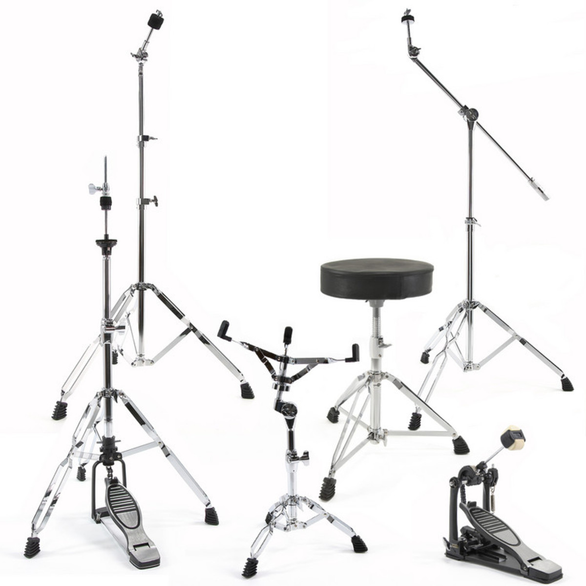 complete drum hardware pack by gear4music at gear4music. Black Bedroom Furniture Sets. Home Design Ideas