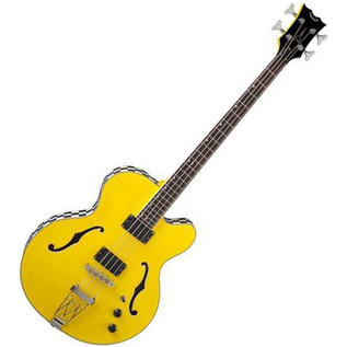 Dean Stylist Cabbie Bass Guitar, Yellow