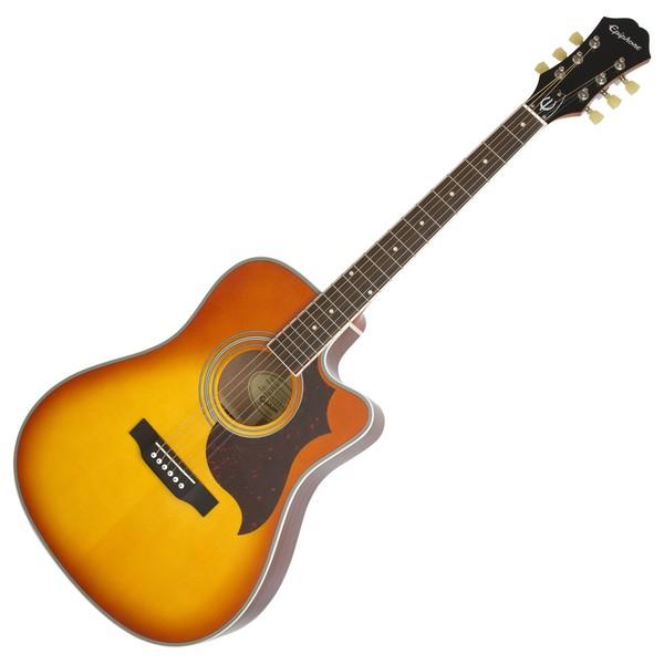 Epiphone FT-350SCE Electro Acoustic Guitar Min-ETune, Violin Burst