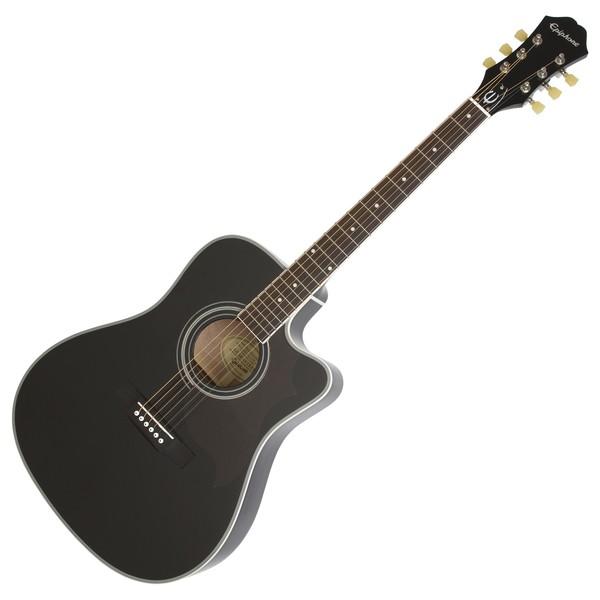 Epiphone FT-350SCE Electro Acoustic Guitar Min-ETune, Ebony