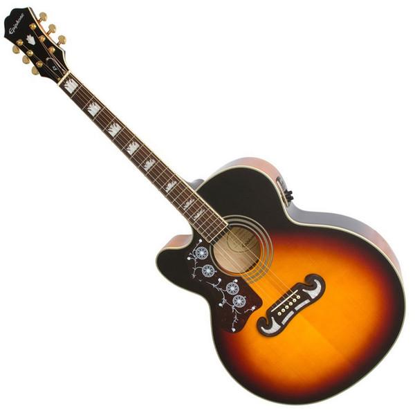 Epiphone Ltd Ed EJ-200SCE Electro Acoustic L/Handed, Vintage Sunburst
