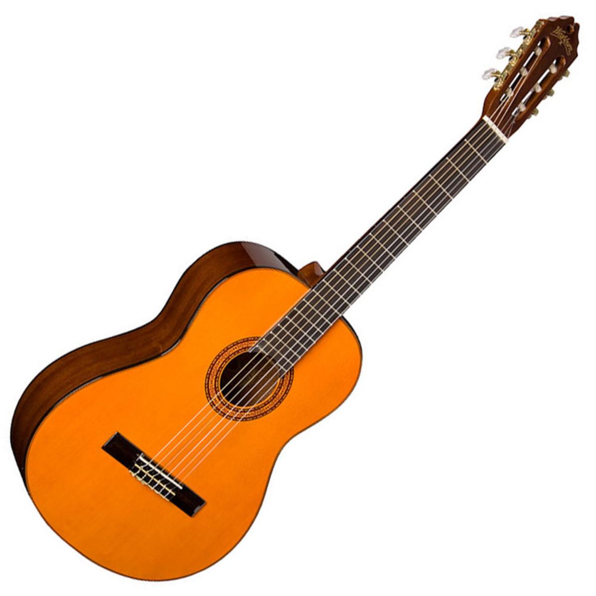 washburn c5 classical nylon string acoustic guitar natural at. Black Bedroom Furniture Sets. Home Design Ideas