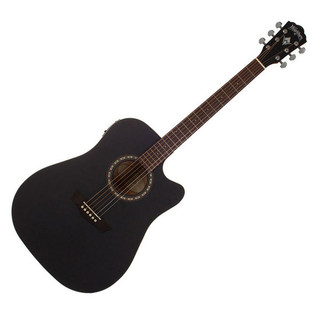Washburn WD7SCE Harvest Series, Dreadnought Acoustic, Matte Black