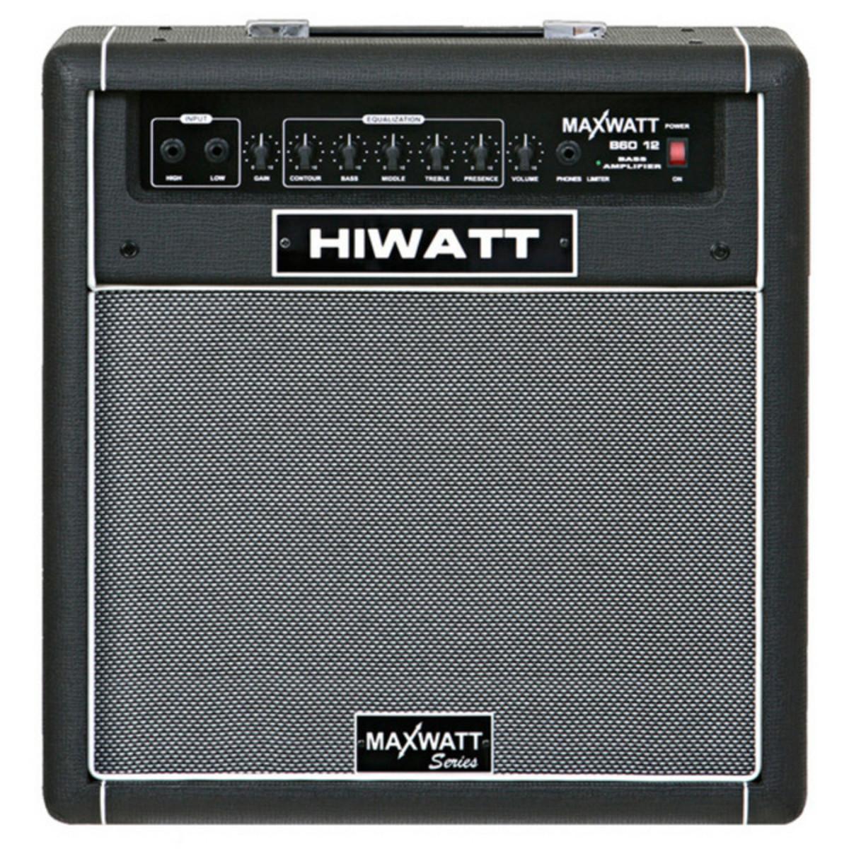 hiwatt maxwatt series 60w bass amp black at gear4music. Black Bedroom Furniture Sets. Home Design Ideas