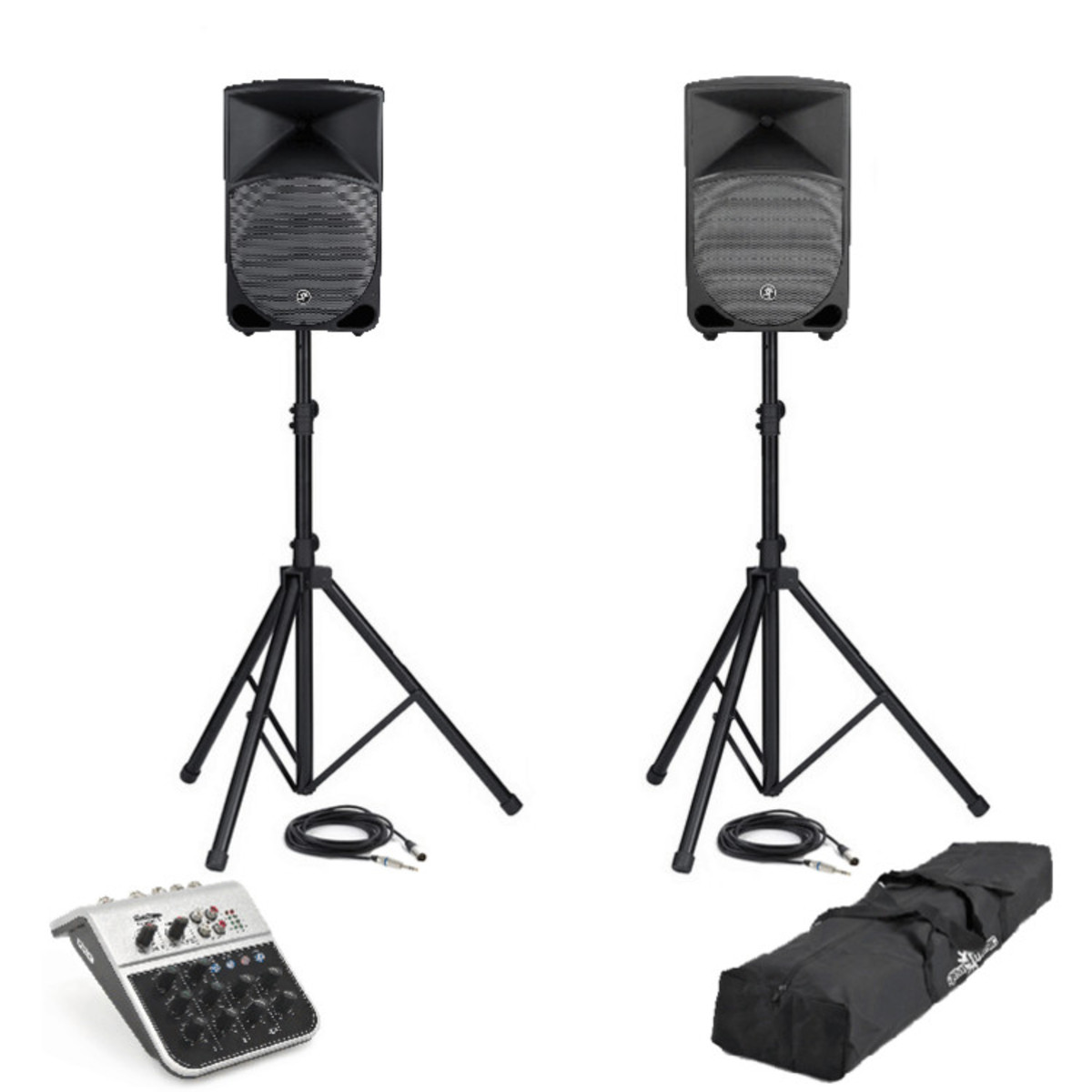 disc mackie thump th 12a pair pa system inc mixer stands cables at gear4music. Black Bedroom Furniture Sets. Home Design Ideas
