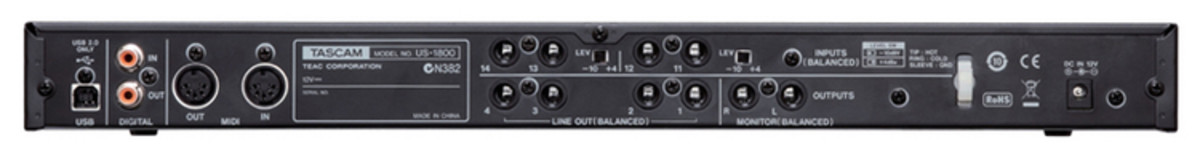 TASCAM US-1800 AUDIO INTERFACE DRIVERS FOR WINDOWS MAC