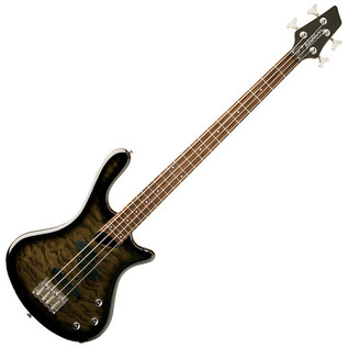 Washburn T14 Bass Guitar, Quilted Transparent Black