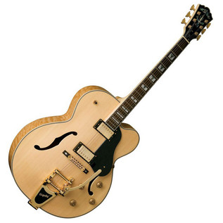 Washburn J7V Jazz Series Electric Guitar, Natural