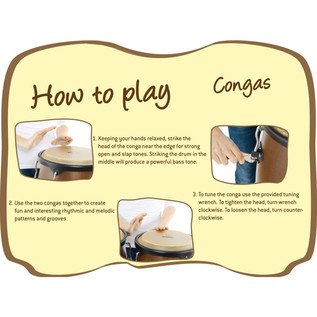 Nino Percussion Wood Conga Sets