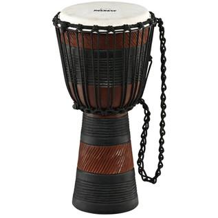 Meinl NINO-ADJ3-M African Rope Tuned Wood Djembe, Earth Rhythm