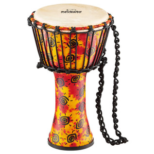 MEINL NINO-PDJ1-S-G Rope Tuned Synthetic Djembe with Goat Head, Small