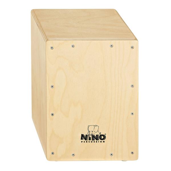 Meinl NINO950 Percussion Standard Cajon, Natural Frontplate