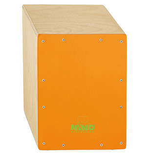 Meinl NINO950OR Percussion Standard Cajon, Orange Frontplate