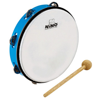 Meinl NINO24SB Percussion 10 inch ABS Tambourine, Sky-Blue