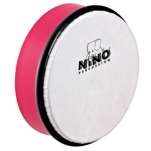 Meinl NINO4SP Percussion 6 inch ABS Hand Drum, Strawberry Pink