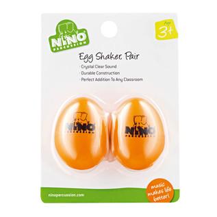 Meinl NINO540OR-2 Percussion Plastic Egg Shaker Pair, Orange