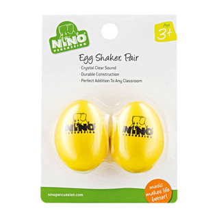 Meinl NINO540Y-2 Percussion Plastic Egg Shaker Pair, Yellow