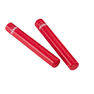 Meinl NINO576R Percussion 7 inch Rattle Stick, Red (Pair)