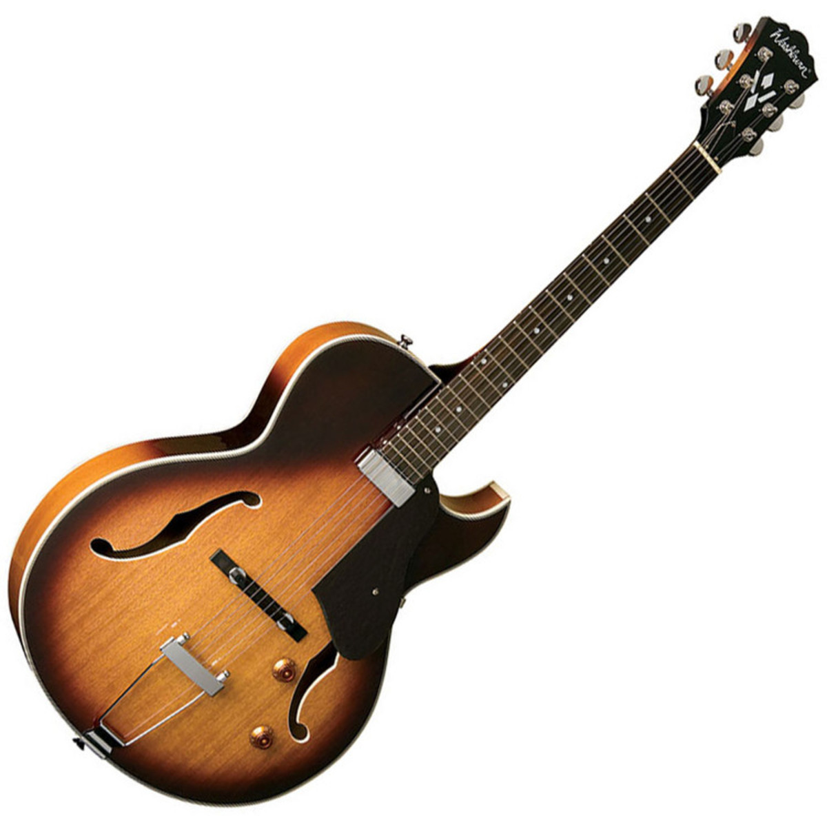 Washburn HB15CTSK Hollow Body Guitar, Tobacco Sunburst at ...