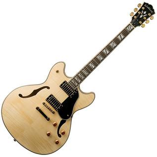 Washburn HB35 Hollow Body Series Guitar, Natural