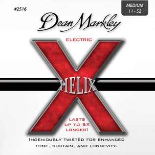 Dean Markley Medium Helix Electric Guitar Strings, 11-52