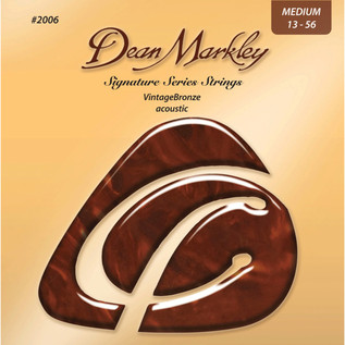 Dean Markley Med Vintage Bronze Signature Acoustic Strings, 13-56