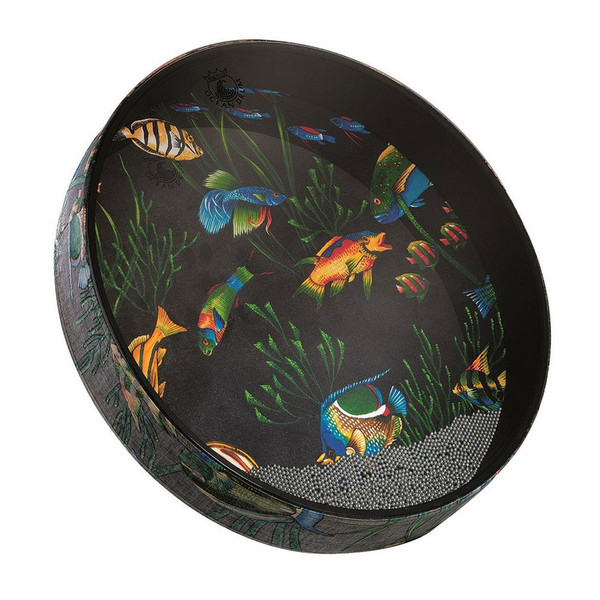 Remo Ocean Drum 2.5 Inch x 22 Inch, Fabric Fish Finish