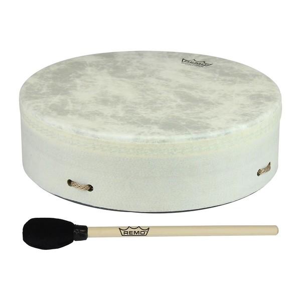 Remo Standard Buffalo Drum 14 Inch x 3.5 Inch, White