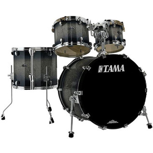 Tama Starclassic Bubinga 22in 4 Piece Shell Pack, Dark Stardust Burst