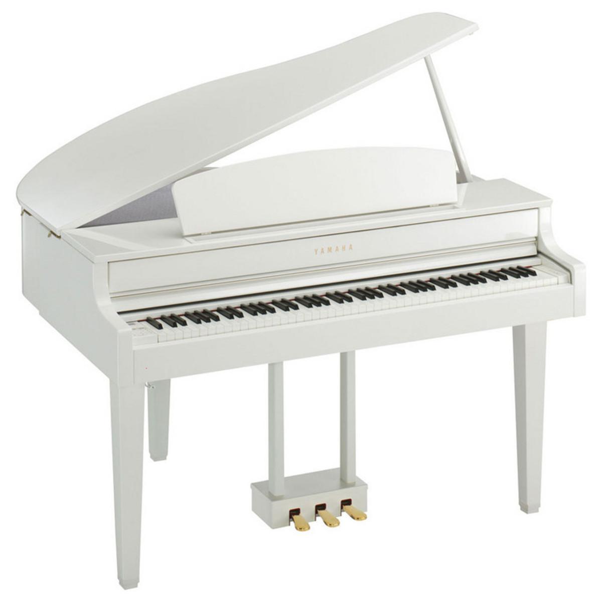 Yamaha clp565 digital grand piano polished white at for Yamaha clavinova cvp 303