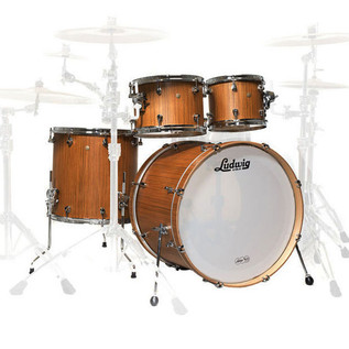 Ludwig Signet 105 TeraBeat 4Pc Shell Pack, Indian Teak