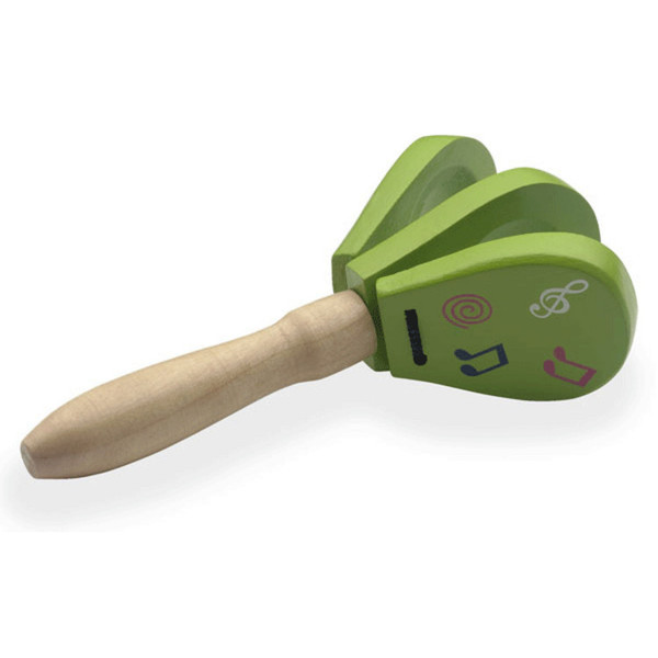 Stagg 3 Wooden Notes Castanets, With Handle