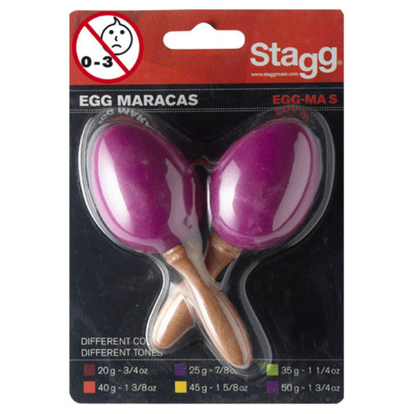 Stagg Plastic Egg Maracas, Magenta Pair