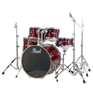 Pearl Export Lacquer Fusion Drum Kit, Natural Cherry