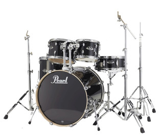 Pearl Export Lacquer Fusion Drum Kit, Black Smoke