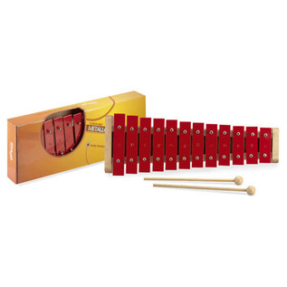 Stagg 12 Key Metallophone, Red