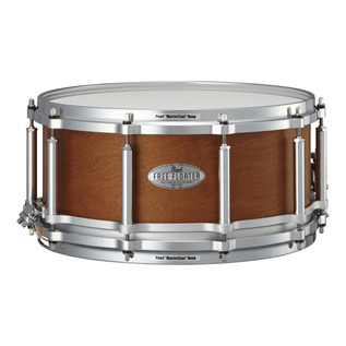 Pearl 14 Inch x 6.5 Inch 6-ply Maple/Mahogany Free Floater Snare Drum