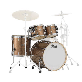 Pearl Masters BCX 4 Piece Rock Shell Kit, Gold Bronze Glitter