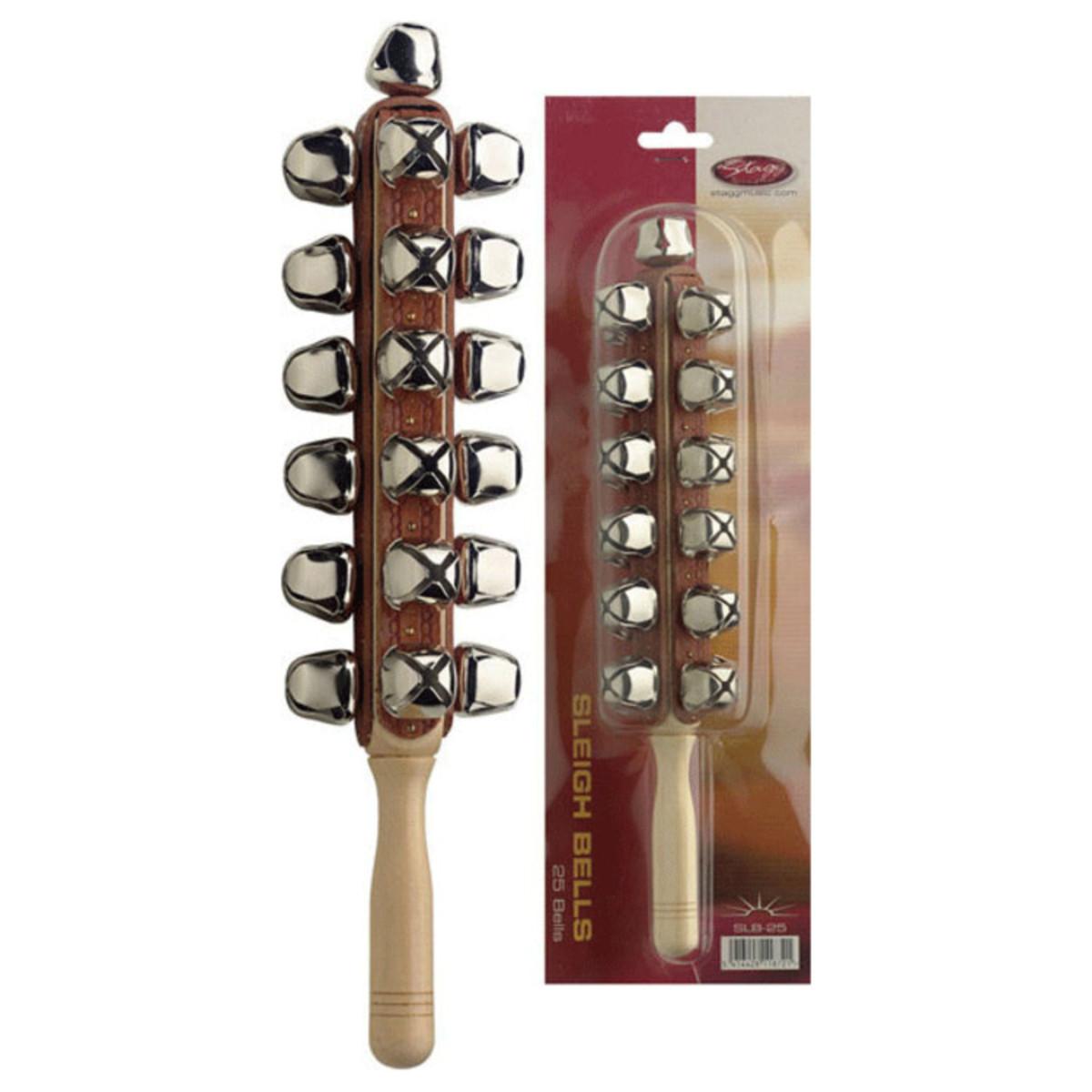 Stagg Sleigh Bell Stick, 25 Bells