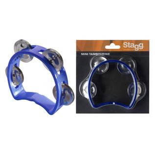 Stagg Plastic Mini Tambourine, Blue