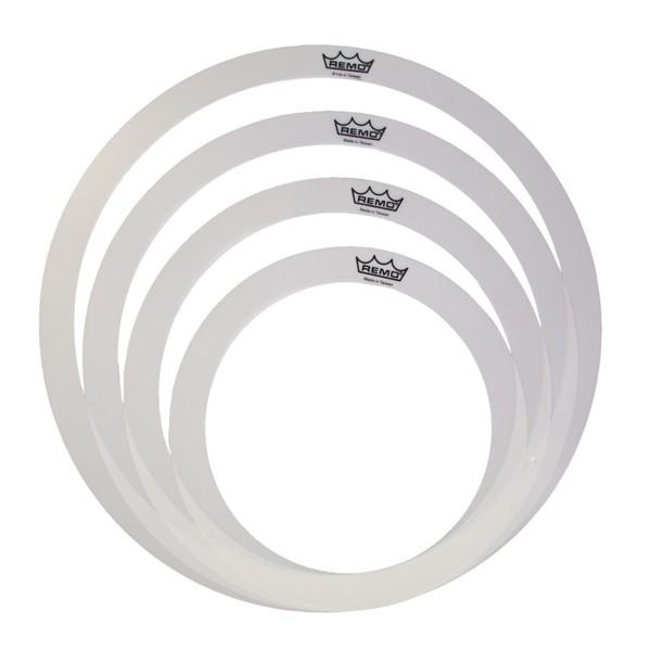 Remo 10, 12, 13 and 16 Inch Rem-o-ring set for Tom/Snare/Floortom