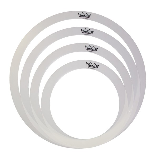 Remo 10, 12, and 2 x 14 Inch Rem-o-ring set for Tom/Snare/Floortom
