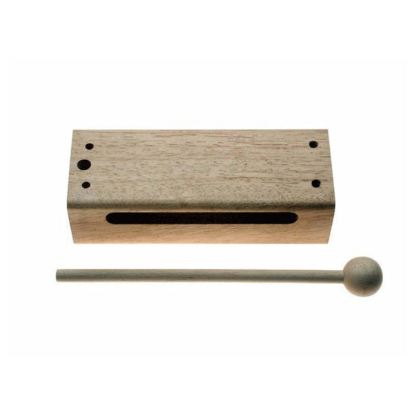 Stagg Small Wooden Tone Block, With Beater