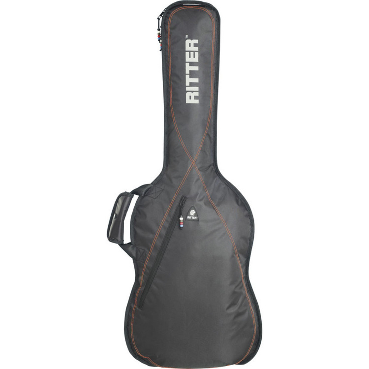 disc ritter performance rgp2 guitar bag classical 3 4 black red gear4music. Black Bedroom Furniture Sets. Home Design Ideas