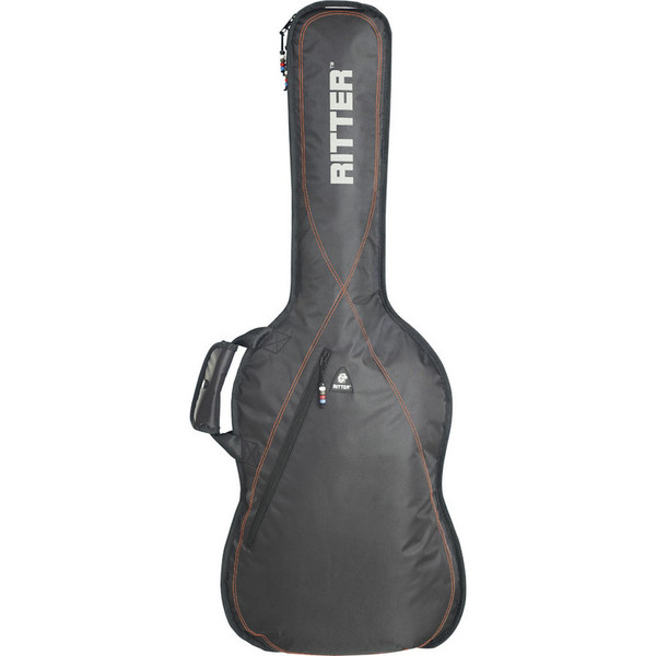 Ritter Performance RGP2 Guitar Bag, Bass, Black/Red